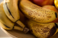 Very ripe bananas Royalty Free Stock Images