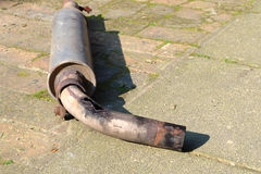 Very rusty exhaust Royalty Free Stock Photos