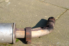 Very rusty exhaust Royalty Free Stock Images