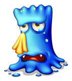 A very sad blue monster Royalty Free Stock Photography
