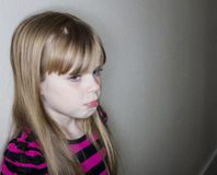 Very sad crying child Royalty Free Stock Images