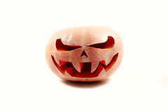 Free Very Scary Halloween Pumpkin On A White Isolated Background With Stock Photos - 77940473
