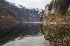 Very scenic fjord coast with clean and clear water Royalty Free Stock Photos