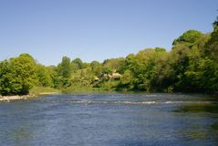 Scenic river Ribble in Lancashire UK. The very scenic, wide and shallow river Ribble in Lancashire UK Stock Photography