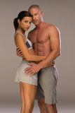 Very Seductive Couple in Body Fitness Pose Royalty Free Stock Image