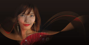 Very Seductive Young Asian Woman Royalty Free Stock Photo