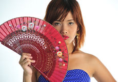 Very seductive young asian woman Stock Images