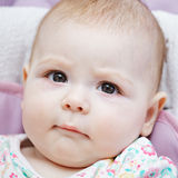 Very serious baby Stock Photos