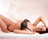Very sexy brunette. Royalty Free Stock Image