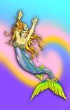 Very mermaid royalty free illustration