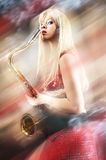 Very saxy girl Stock Photography