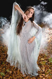 Very Sexy witch in halloween gothic style Royalty Free Stock Photography