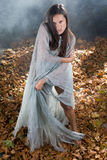 Very Sexy witch in halloween gothic style Royalty Free Stock Photo