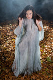 Very Sexy witch in halloween gothic style Royalty Free Stock Images