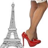 A very sexy women in Paris Stock Photo
