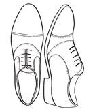Very simple and graphic quality men's shoes Stock Photos