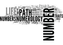 A Very Simple Guide To Learn Numerology Word Cloud Stock Photos