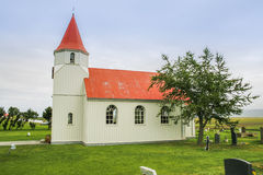 Simple icelandic church Royalty Free Stock Photo