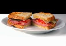 A very Simply Ham Sandwich Royalty Free Stock Photo