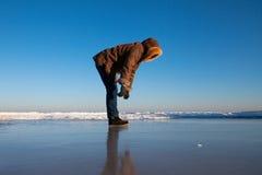 Very slippery ice. Royalty Free Stock Image