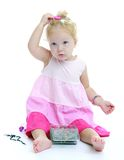 Very small blonde girl Royalty Free Stock Image