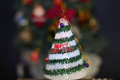 Very small Colorful glowing christmas tree Stock Image