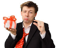 Very small gift Stock Image