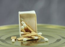 Very small matches in a matchbox Stock Image
