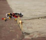 A very small skateboard stock photo