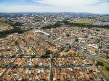 Very small town in Sao Paulo, Brazil South America. Small cities in South America, city of Botucatu in the state of Sao Paulo, Brazil, South America stock photo