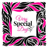 Very special day ornament frame Stock Photography