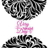 Very special day ornament frame Stock Photo