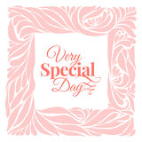 Very special day ornament frame Royalty Free Stock Photography