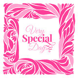 Very special day ornament frame Stock Images