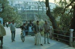 1977. India. A very special rickshaw. Stock Photos