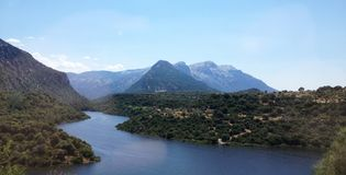 River in the mountains of Sardinia, Italy stock images