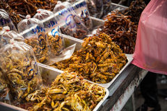Very spicy seafoods beside the roa Royalty Free Stock Photography