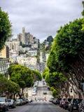 The very steep Lombard Street, San Francisco Stock Photo