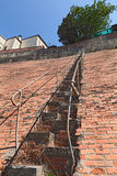 Very steep staircase Royalty Free Stock Images