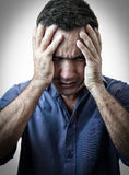 Very stressed man Stock Image