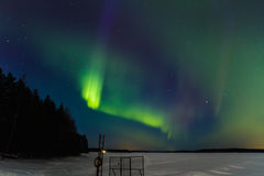 Auroras over the lake 6 Royalty Free Stock Images