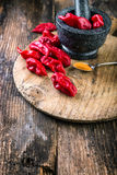 Very strongly hot pepper Bhut Jolokia Stock Photography