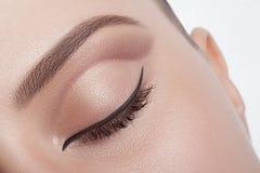 Very stylish make-up eyes. Stock Images