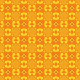 Seamless pattern, yellow tile with red and orange ornament royalty free illustration