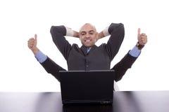 Very successful businessman Royalty Free Stock Photos