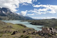 Landscape View in Chilean Patagonia Royalty Free Stock Photo