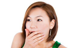 Very surprised asian woman Royalty Free Stock Images