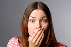 Very Surprised Girl Stock Images