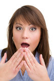 Very surprised woman Royalty Free Stock Photo