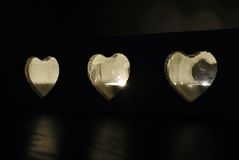Very sweet heart shape candleligh Royalty Free Stock Photography